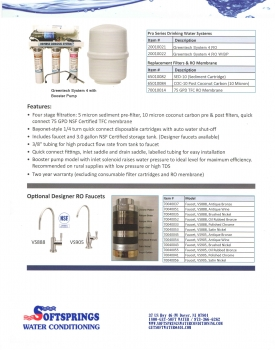 Greentech System 4 Reverse Osmosis Water Purification System